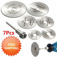 6 x HSS Circular Wood Cutting Saw Blade Discs+ 1 x Mandrel Drill For Rotary Tool