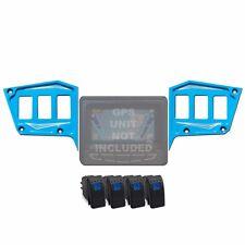 2 Piece Dash Panel 6 Switch Billet GPS COMBO Polaris RZR Trail 900 Voodoo Blue