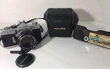 Minolta SR-1 35mm SLR w/ Auto Rokkor-PF 55mm 1:1.8 Lens Case for Parts