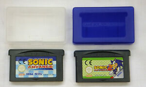 OFFICIAL SONIC ADVANCE & SONIC ADVANCE 2 GAME CARTRIDGE & CASES NINTENDO GAMEBOY