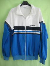 Veste Adidas Blanche bleu Made in France Ventex 80'S Vintage Jacket - 180 / L