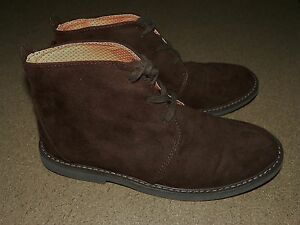 COLE HAAN Suede CHAMP Chukka Ankle BOOTS Shoes Youth Size 4 Brown