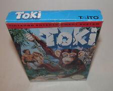 Toki Nintendo NES Original Box Only Good Shape