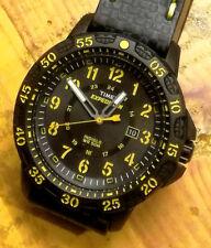 Timex Expedition Giallo 44mm. Acciaio/Resina. Cinturino cuoio/carbonio spesso