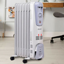 Home 1500 W 7-Fin Electric Oil Filled Space Thermostat Heater Household Tool