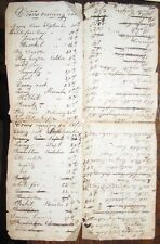 1866 COWS COMING IN Manuscript Handwritten Document Breeds FARMER AGRICULTURE