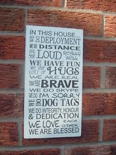shabby vintage chic in this house..deployment, military army navy air force sign