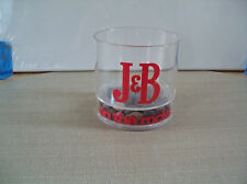 "RARE Vintage 1970's J & B Scotch Whisky ""On The Rocks"" Plastic Barware Glass GUC"