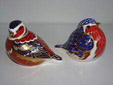More details for lovely pair of royal crown derby birds,robin and chaffinch, both 2nd quality