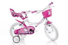 "DINO Hello Kitty Bianco Bambine Bicicletta 14"" ha parlato ruota pneumatico 144R-HK"