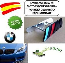 EMBLEMA LOGO INSIGNIA PARRILLA DELANTERO BMW M NEGRO METALICO SPAÑA