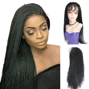 Micro Twist Braids Lace Front Wigs for Black Women Braided Full Wigs Baby Hair