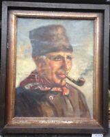 ::HARRY HAERENDEL *1896 -1991 HAMBURG FISCHER SEEMANN PORTRAIT NORDSEE HAFEN