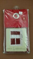"Essence 58""x30"" length Grommet tier curtain pair ~ Red.  New in the package."