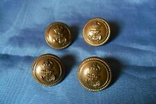 VINTAGE JOB LOT FOUR BRITISH ROYAL NAVY OFFICER BRASS MILITARY BUTTONS 23 mm