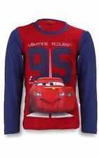 Magliette, maglie e camicie rosso a manica lunga con girocollo per bambini dai 2 ai 16 anni