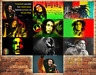 Job Lot 10 x METAL TIN SIGN WALL PLAQUE BOB MARLEY  COLLECTION #1