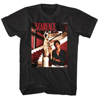 Scarface Tony Montana Gold Statue Men's T Shirt Richest Famous Pacino Gangster