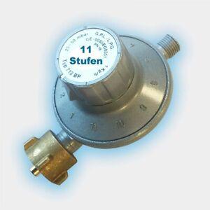 Gasregler 11-Stufen-Regler 25-50 mbar verstellbar   Propan Druckminderer 30