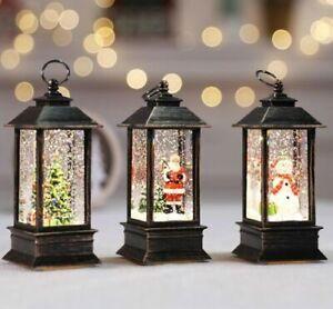 LED Lamp Christmas Lantern Santa Claus Snowman Xmas Tree Ornament Gift Decor