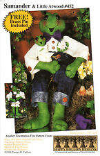 """Happy Hollow Designs Sewing Craft Doll Pattern 452 """"Samander & Little Atwood"""""""