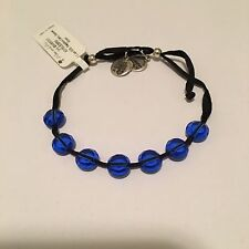 """ALEX AND ANI """"LUCKY 7 SAPPHIRE CALM"""" EXPANDABLE BRACELET IN RUSSIAN SILVER! NWT!"""