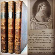 1802 The Divine Comedy Dante Alighieri 3 Volume Boyd's 1st Ever English Edition