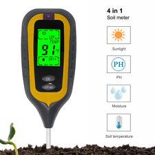 Soil Tester 4 in 1 pH Moisture Meter Thermometer Hygrometer Sunlight Monitor