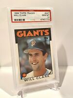 1986 Topps Traded #24T Will Clark Rookie Card PSA 10 GEM MT San Francisco Giants