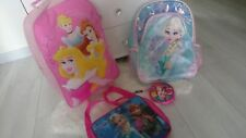 FROZEN PRINCESS 4x BUNDLE SCHOOL HOLIDAY BACKPACK WHEELED TROLLEY BAG LUNCH BOX