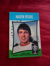 MARTIN PETERS 1968 WEST HAM UNITED FOOTBALL CLUB STAR PLAYERS A B & C CARD # 5