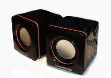 MINI Lautsprecher Manhattan 2600 schwarz USB 2.0 Stereo / Speaker Aktivboxen