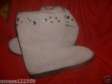 NWT Gap Pink Leather Boots w Rhinestones