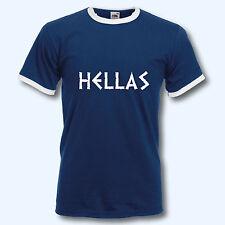 T-Shirt , Retro-Shirt, WM Griechenland Hellas Greece, Ringer T