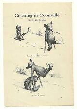 E.W. KEMBLE COASTING IN COONVILLE ILLUSTRATED BLACK AMERICANA PRINT