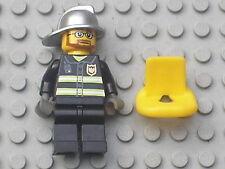 Minifig figurine personnage LEGO POMPIER neuf / Fireman 7240 7213 7906 7046 etc