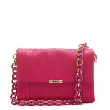 af13da866e04 NEW AUTH TED BAKER IPOMOEA Fuchsia   Pink Leather Chain Shoulder Bag - NWT