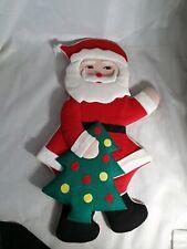 Vintage Christmas Fabric Hanging Santa Father Christmas Decoration