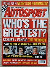 AUTOSPORT MAGAZINE 8th août 2002-Qui est le plus grand GP Pilote?
