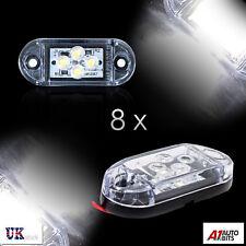 8x 24v Smd 4 Led White Side Marker Lights Lamps Position Truck Trailer Lorry Dot