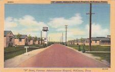 "Postcard ""D"" Street Veterans Administration Hospital McKinney Texas"