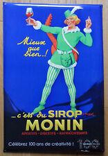 Cadre Plaque métal Embouti Vintage publicitaire bar bistrot Sirop Monin