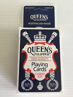 Brand New Queen's Slipper High Quality Playing Cards Casino Slip 52's Blue