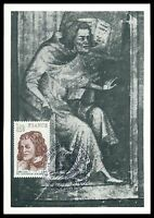 FRANCE MK 1977 MACHAULT MUSIKER DICHTER MUSIC POET CARTE MAXIMUM CARD MC CM al64
