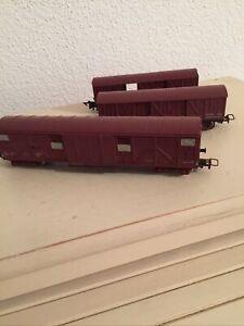 Lot 3 Wagons Marchandises couverts à bogies SNCF Jouef HO Bon état