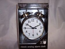 Classic Analog Alarm Clock,Battery, LED on Demand,Luminous Hands & Hour Markings