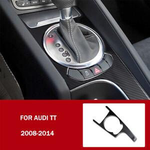 Real Carbon Fiber Center Console Gear Shift Panel Trim  For Audi TT 2008-2014
