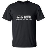Let's eat Grandma! - Funny T-Shirt Black White Custom Sizes