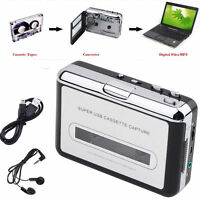 Cassette Tape to USB MP3 Converter Audio Recorder Capture Walkman Music Player
