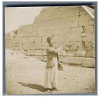 Egypte,Guide du Temple de Karnak  Vintage citrate print Tirage citrate  8,